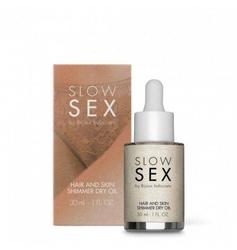 Nabłyszczacz do włosów slow sex hair and skin shimmer dry oil 30ml | 100 dyskrecji | bezpieczne zakupy