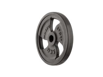 Obciążenie żeliwne gumowane 5 kg mw-o5g-kier - marbo sport - 5 kg