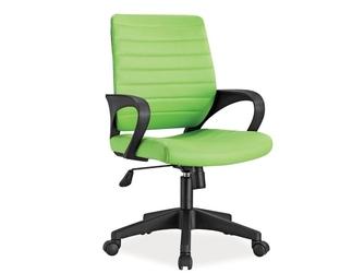 Fotel obrotowy z regulacją wysokości z ekoskóry - zielony - 61 x 46 9099 cm - q505