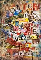 Ściana - napisy - fototapeta