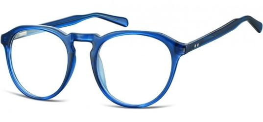 Okrągłe oprawki lenonki zerówki korekcyjne sunoptic ac21d ciemny niebieski