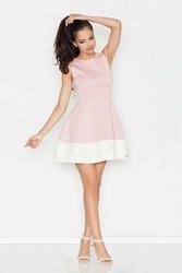 Różowa rozkloszowana sukienka bez rękawów