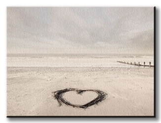 Love goes on forever - obraz na płótnie