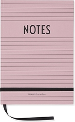 Notes design letters a5 różowy