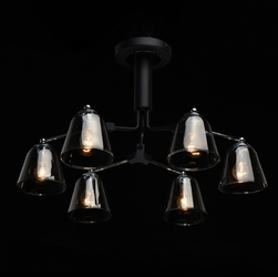Lampa wisząca duże, ciemne, szklane klosze hamburg demarkt megapolis 605012406