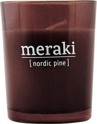 Świeca zapachowa meraki w ciemnym szkle mała nordic pine