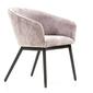 Eleganckie krzesło tapicerowane capella róż vintage