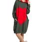 Zielona dresowa sportowa sukienka z aplikacją