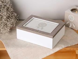 Pudełko do przechowywania  drewniane, z ramką na zdjęcie 8 x 13 cm altom design dream
