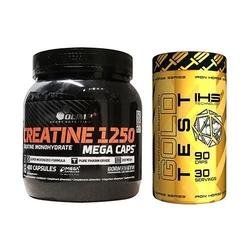 Olimp creatine mc 400caps + ihs gold test 90caps kreatyna i booster testosteronu wysyłka 24h