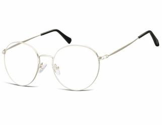 Lenonki okrągłe okulary oprawki optyczne 915e srebrne