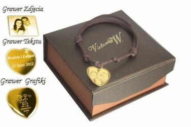 Bransoletka serce grawer zdjecia+etui prezent dla niej