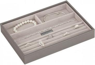 Szkatułka na biżuterię stackers 4 komorowa classic szaro-beżowa