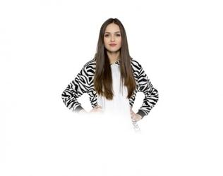 Zebra kigurumi onesie dres piżama kombinezon