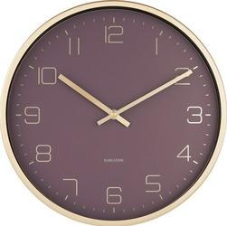 Zegar ścienny Gold Elegance fioletowy