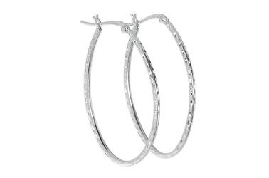 Długie srebrne kolczyki