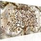 Obraz - drzewo i fale 5-częściowy brązowy