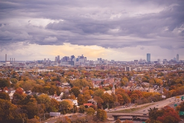 Fototapeta na ścianę miasto w jesienny dzień fp 4894