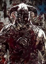 Legends of bedlam - dragonborn, skyrim - plakat wymiar do wyboru: 30x40 cm