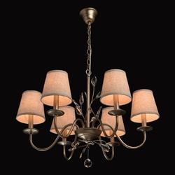 Klasyczny 6-ramienny żyrandol z beżowymi abażurami mw-light elegance 419011206