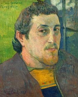 Self-portrait dedicated to carrière, paul gauguin - plakat wymiar do wyboru: 61x91,5 cm