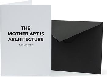 Kartka z kopertą Architects Quotes The Mother Art