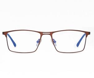 Brązowe męskie okulary do komputera blue light zerówki 2553e
