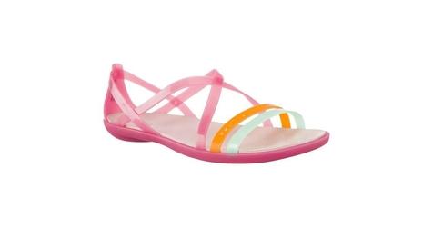 Klapki crocs isabella cut strappy sandal w paradise pink rose dust 38-39 różowy
