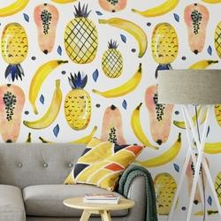 Tapeta na ścianę - sunny fruits , rodzaj - próbka tapety 50x50cm