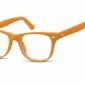 Okulary dziecięce zerówki nerdy ak48a pomarańczowe