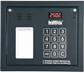 Laskomex cp-2502nr czarny panel audio z mini listą lokatorów i z czytnikiem kluczy rfid - szybka dostawa lub możliwość odbioru w 39 miastach