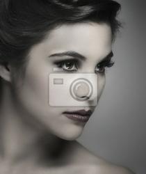 Obraz makijaż moda portret młodej kobiety