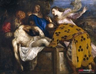 złożenie do grobu ii - tycjan ; obraz - reprodukcja