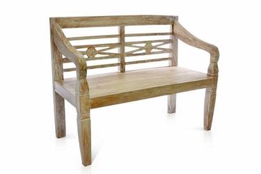 Ławka ogrodowa 2-osobowa drewniana 116 cm