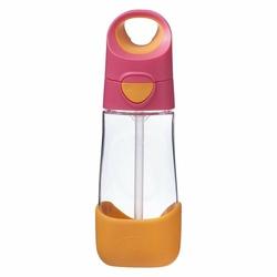 Tritanowa butelka ze słomką 450 ml, Strawberry Shake, b.box - strawberry shake
