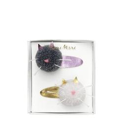Spinki do włosów 2 szt. meri meri - pompony kotek