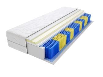 Materac kieszeniowy sofia multipocket 165x165 cm średnio twardy visco memory jednostronny