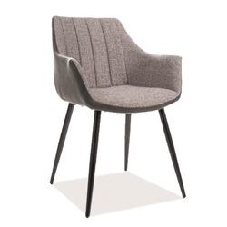 Tapicerowane krzesło do jadalni bruno w szarym kolorze