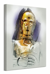 Star Wars: The Last Jedi C-3PO Brushstroke - obraz na płótnie