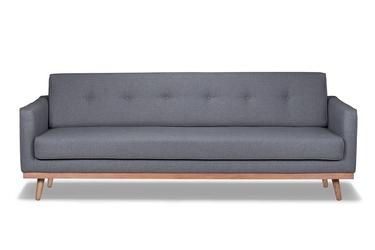 Sofa klematisar 3-osobowa tkanina łatwoczyszcząca poliester 100 shadow