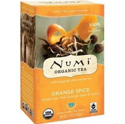Organiczna herbata orange spice, numi tea, 16 torebek