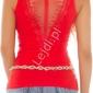 Czerwona bokserka luxury z tiulem na plecach i koronką