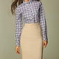 Beżowa ołówkowa elegancka spódnica