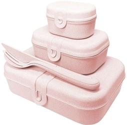 Zestaw lunchboxów pascal ready organic różowy