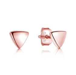 Staviori kolczyki trójkąty srebro rodowane 0,925.  pokryte różowym złotem wymiary 5,5x5,5 mm.