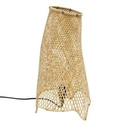 Hk living :: bambusowa lampa stołowa o organicznym kształcie, rozmiar l