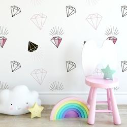 Tapeta dziecięca - sweet diamonds , rodzaj - tapeta flizelinowa laminowana