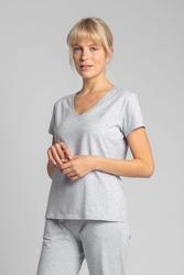 Bawełniana koszulka do spania z krótkim rękawem -jasnoszary