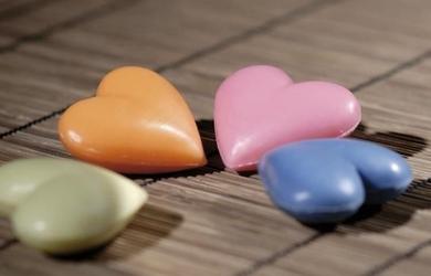 Mydełka melos w kształcie serc 25g