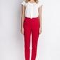 Czerwone spodnie z wysokim stanem